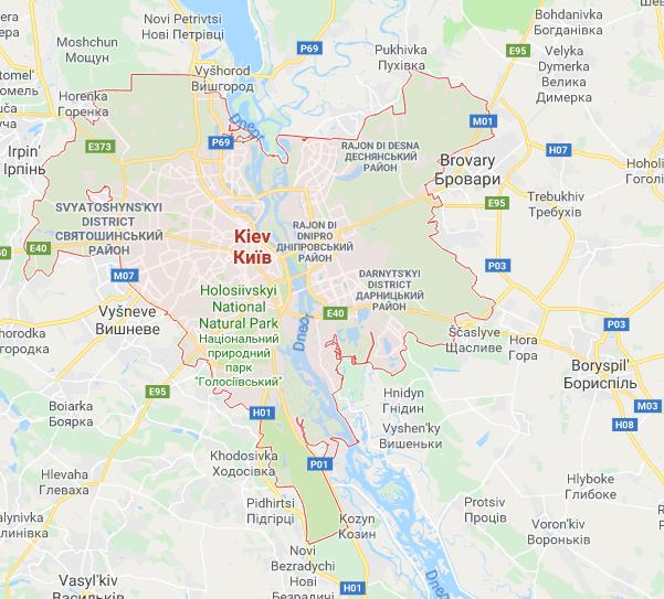 mappa di kiev