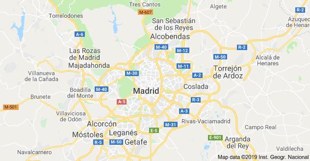 mappa madrid