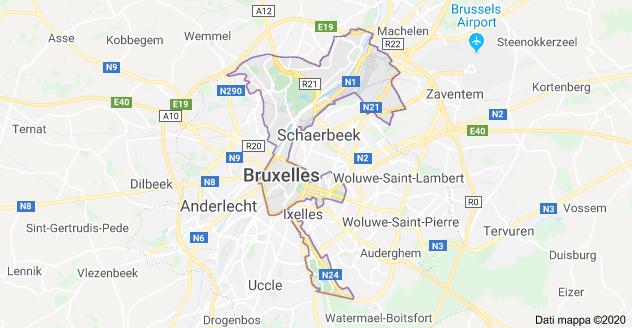 mappa di bruxelles