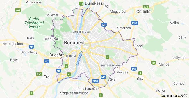 mappa budapest