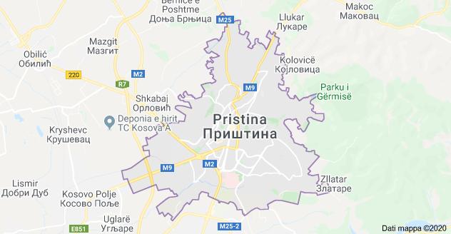 mappa pristina