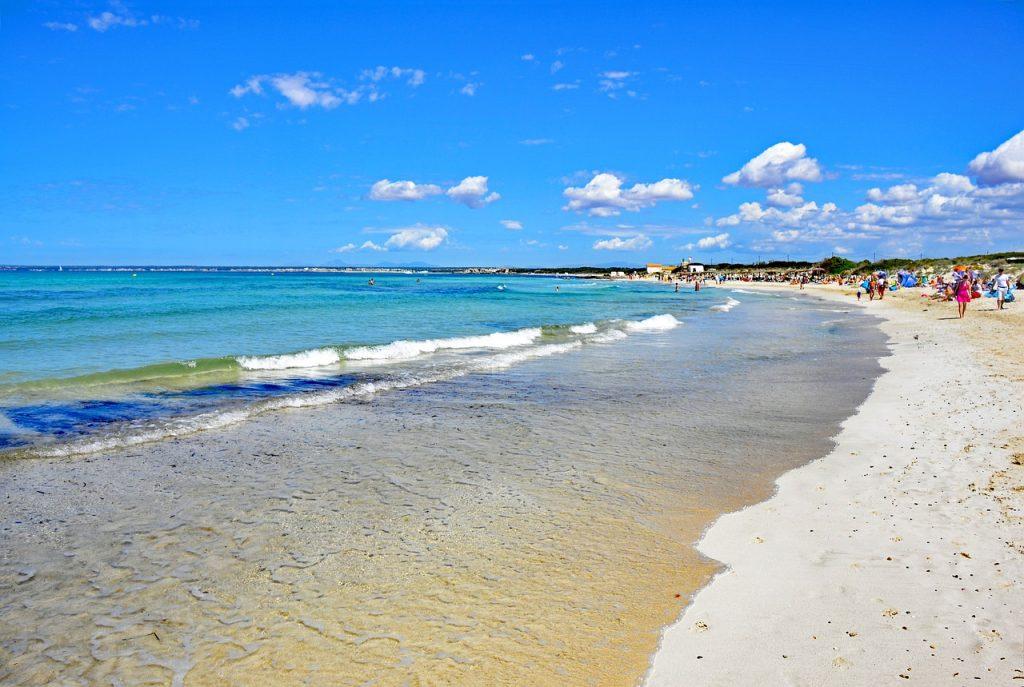 playa es trenc foto palma de maiorca