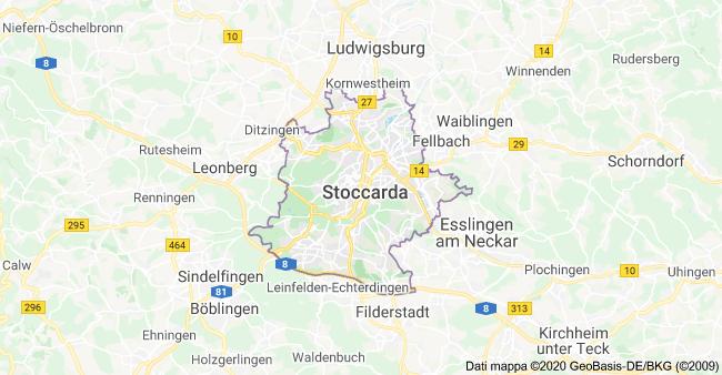 mappa stoccarda
