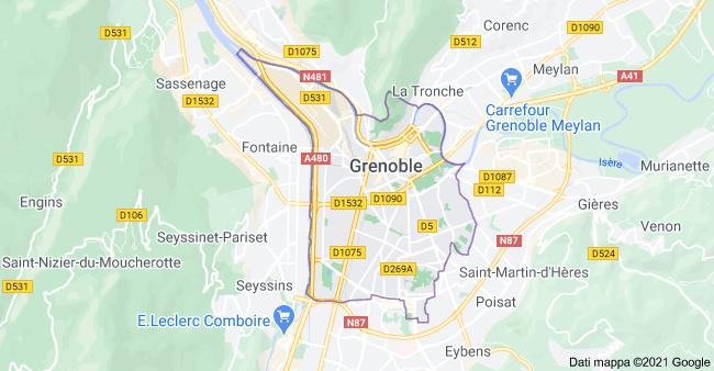 mappa grenoble